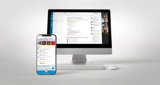 Samepage works on desktop and mobile